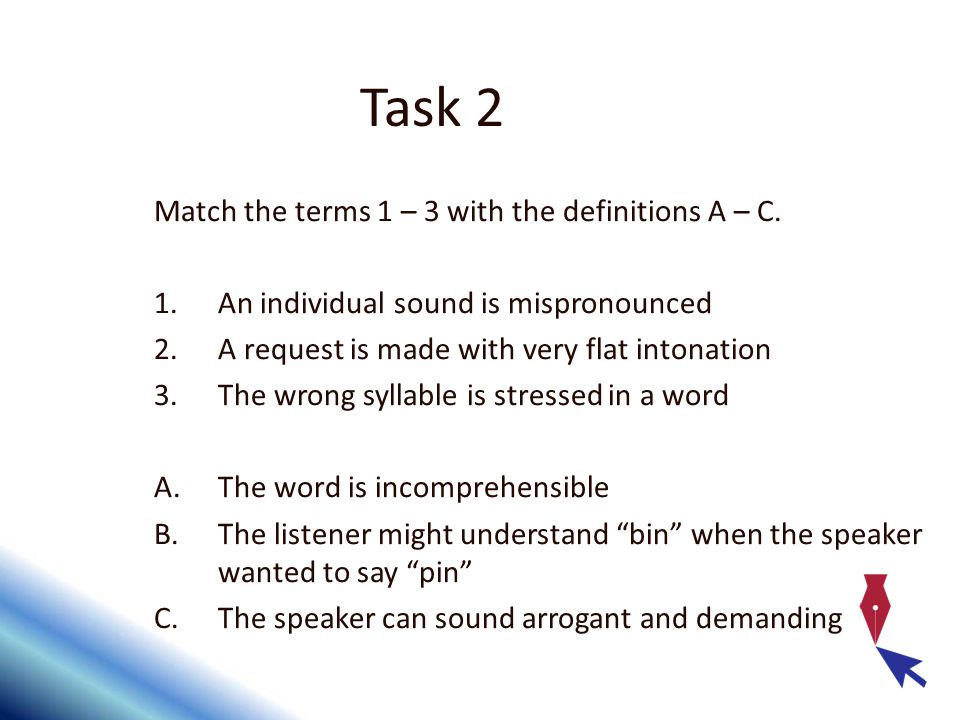 Match the terms 1 – 3 with the definitions A – C.