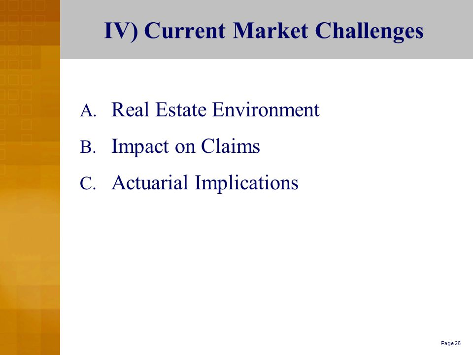 Page 25 IV) Current Market Challenges A. Real Estate Environment B.