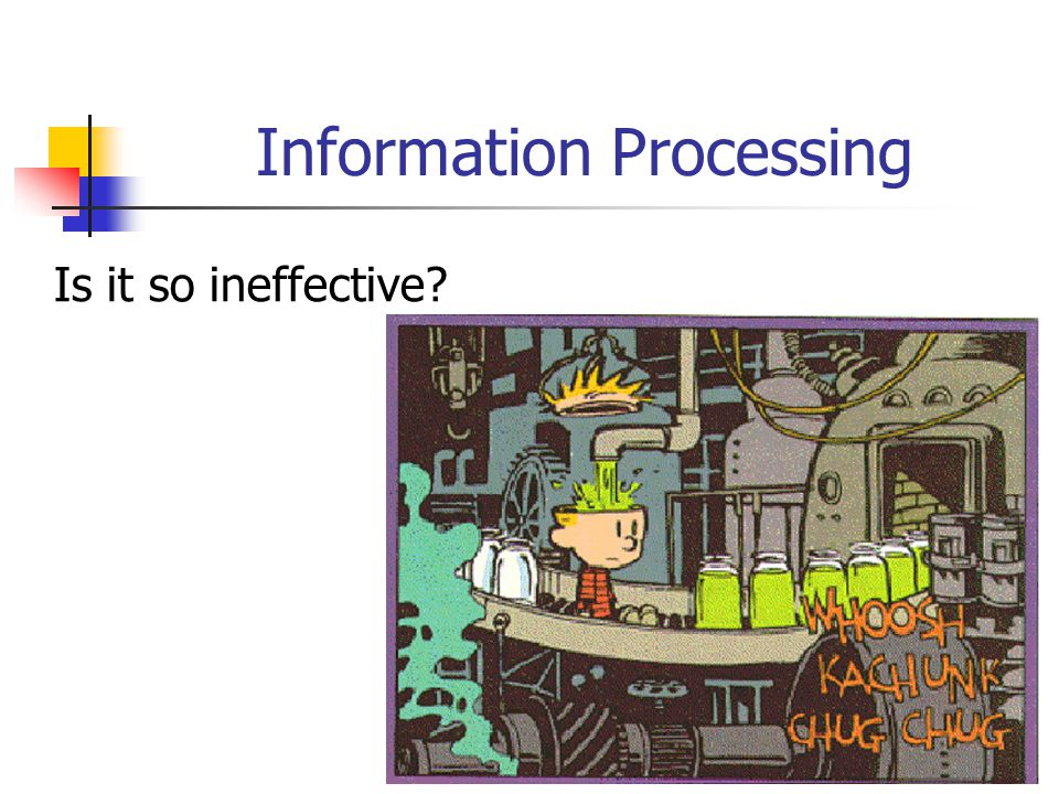 14 Information Processing Is it so ineffective