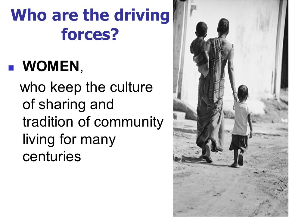Who are the driving forces.