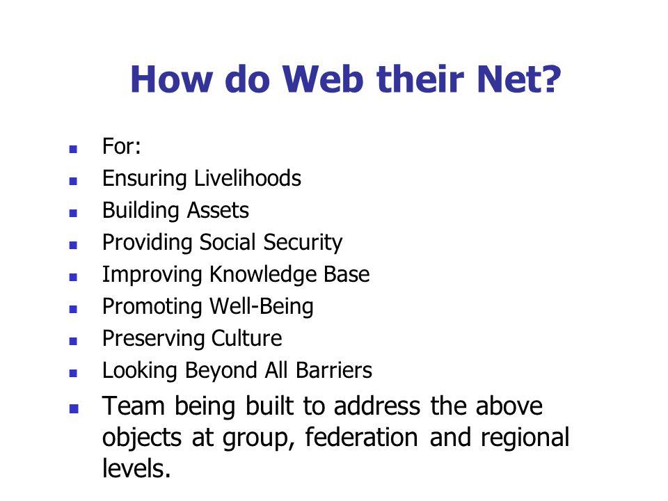 How do Web their Net.