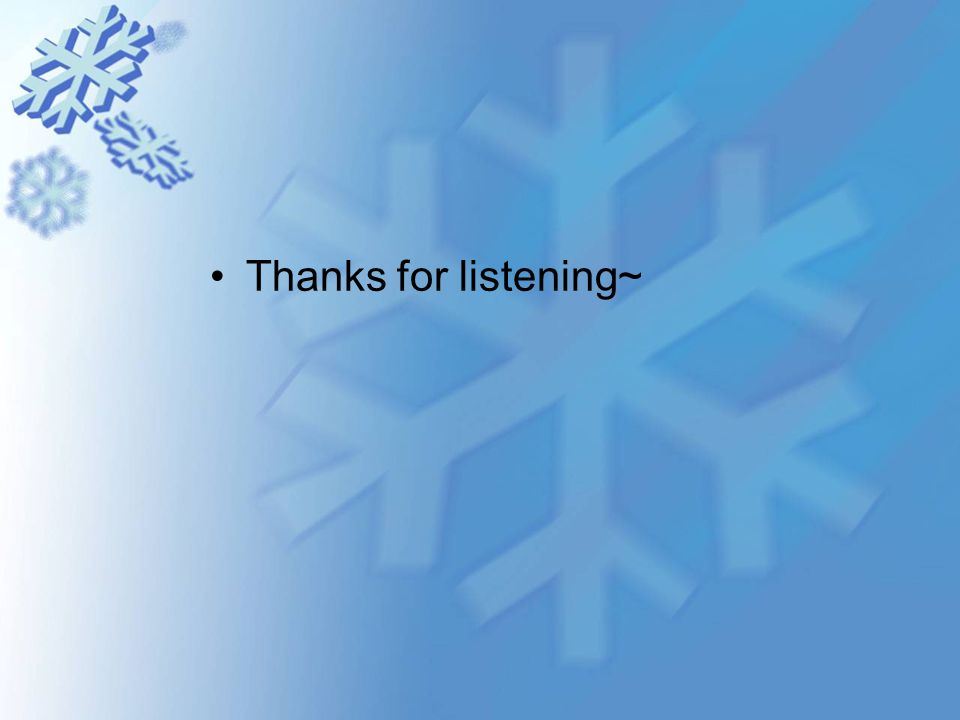 Thanks for listening~