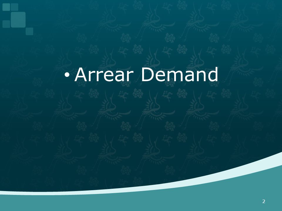 Arrear Demand 2