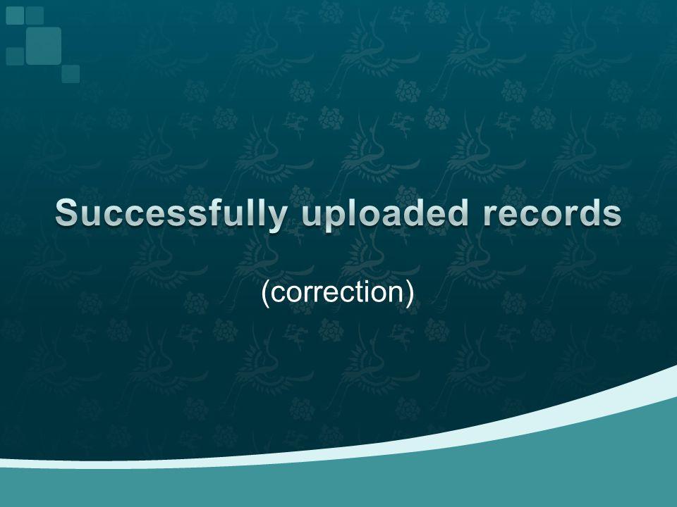 (correction)