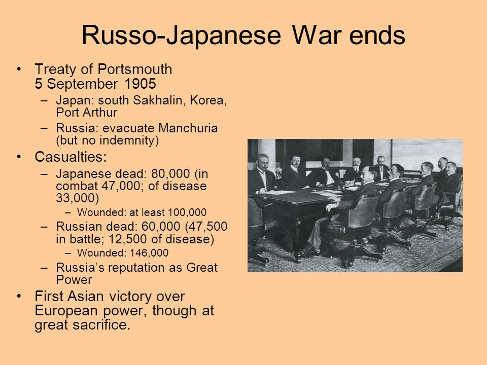 Leading to Revolution Russo-Japanese War (1904-05) Result of increasingly expansionist Russian foreign policy in the East Intended as a way to increas