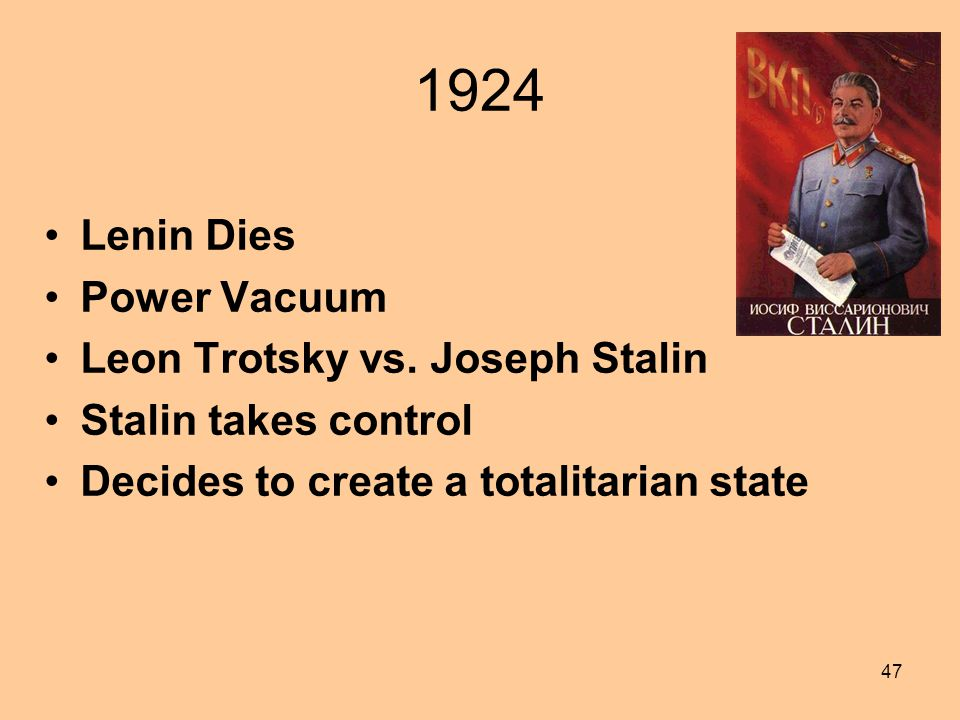 Communism A Form of Socialism –Central Planning of the Economy by the State Government (Communist Party) makes decisions on individual jobs and pay 46