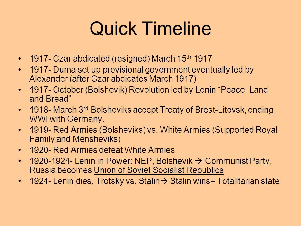 1924 Lenin Dies Power Vacuum Leon Trotsky vs. Joseph Stalin Stalin takes control Decides to create a totalitarian state 47