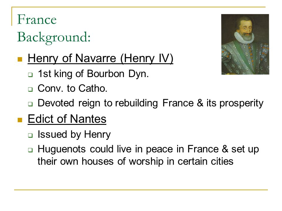 France Background: Cardinal Richelieu  No walls in Protest.