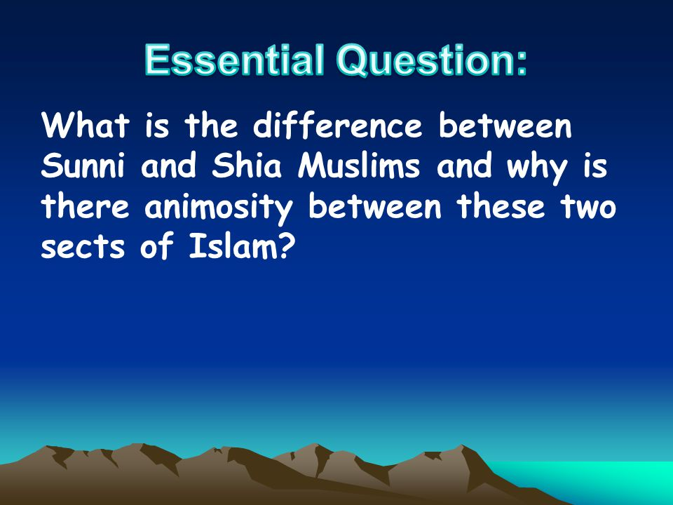 What is the difference between Sunni and Shia Muslims and why is there animosity between these two sects of Islam