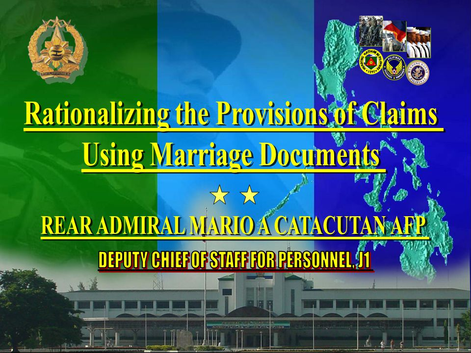 32 Rationalizing the Provisions of Claims Using Marriage Documents Conclusion The task of protecting marriage as an inviolable social institution requires vigilant and zealous participation and not mere pro forma compliance The task of protecting marriage as an inviolable social institution requires vigilant and zealous participation and not mere pro forma compliance
