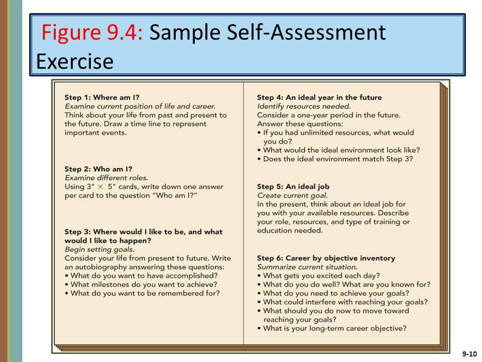 9-10 Figure 9.4: Sample Self-Assessment Exercise