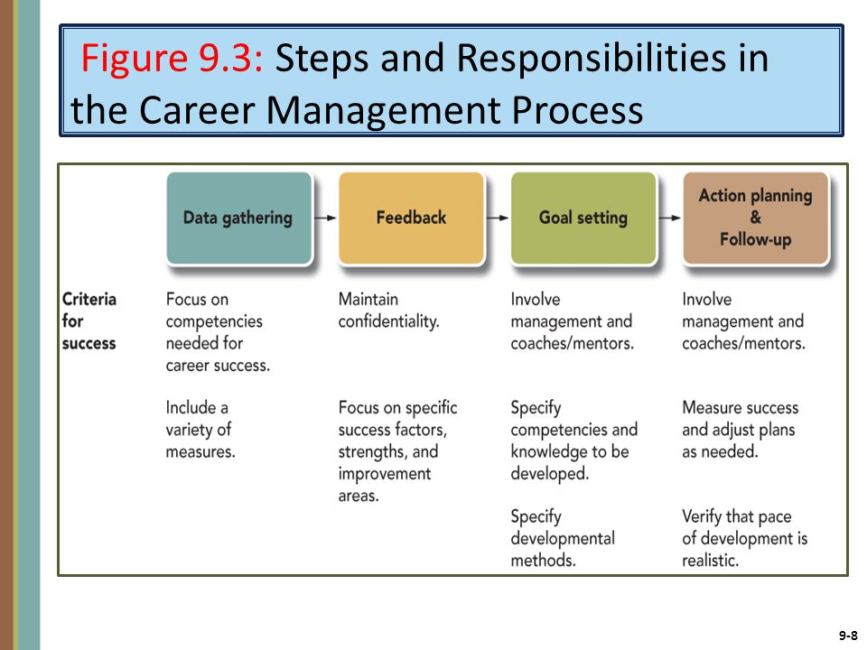 9-8 Figure 9.3: Steps and Responsibilities in the Career Management Process
