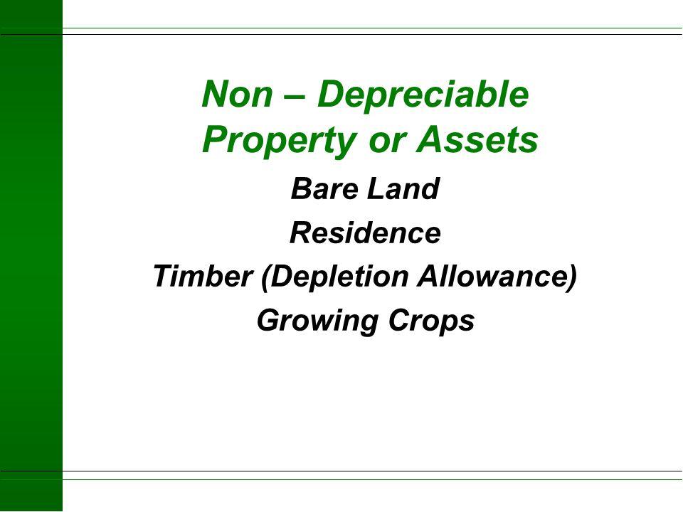 Allocation of Purchased or Transferred Business Property Depreciable Non Depreciable
