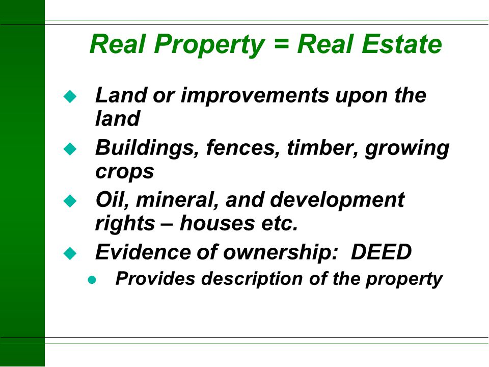 """Property Rights u More than one person can own rights in property u Rights can be referred to as """"Economic Interests"""" – there is value to the rights u"""