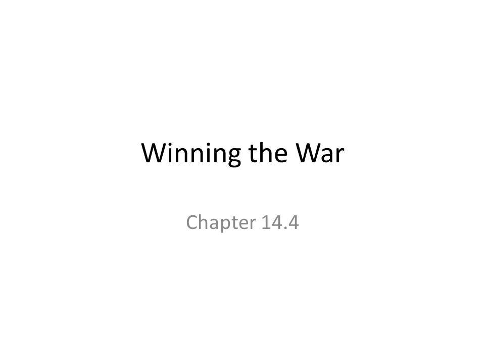 Winning the War Chapter 14.4