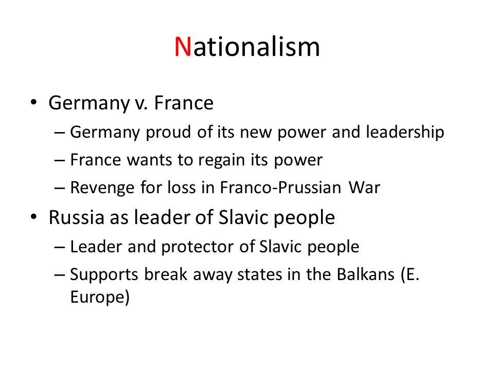 Nationalism Germany v.