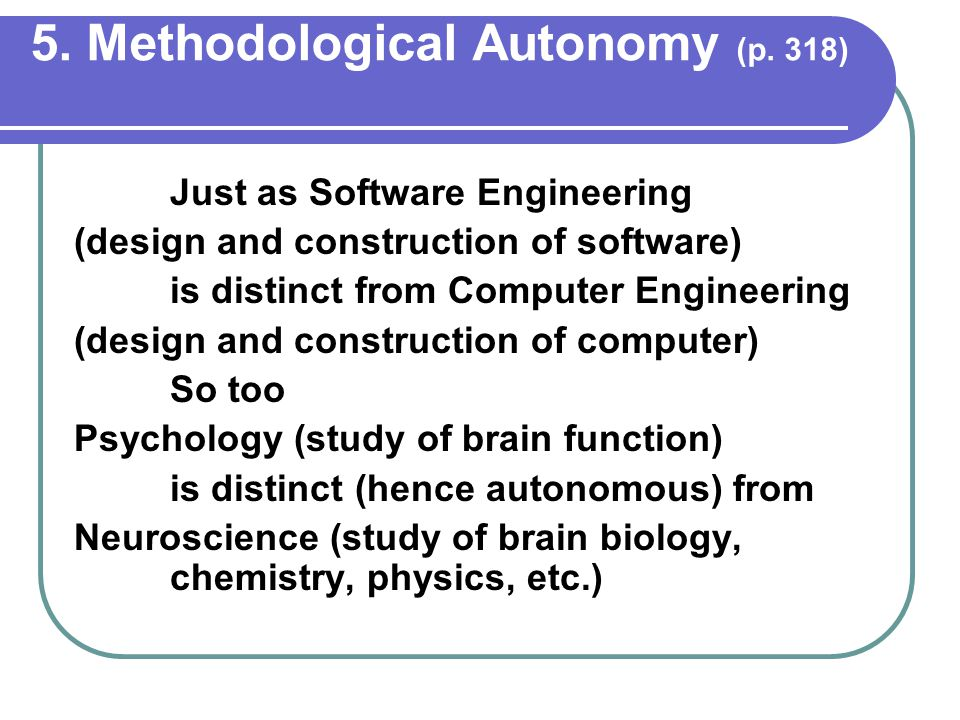 5. Methodological Autonomy (p.