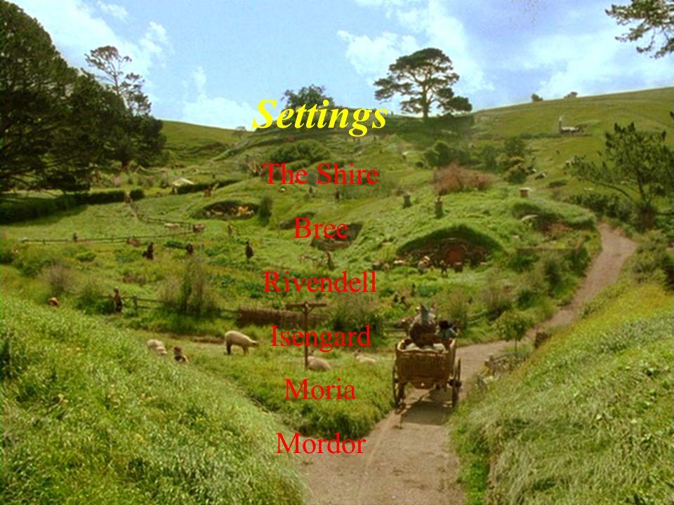 Settings The Shire Bree Rivendell Isengard Moria Mordor