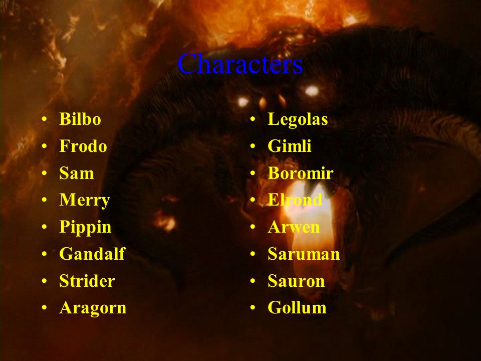 Characters Isildur Orcs Uruk-Hai Nazgul Or Ringwraiths