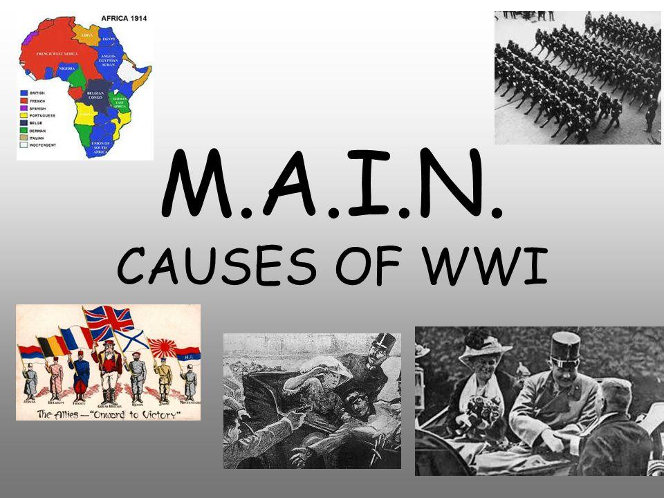 M.A.I.N. Causes Militarism Alliances Imperialism Nationalism