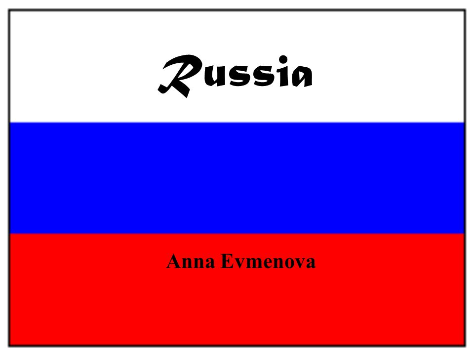 Russia Anna Evmenova