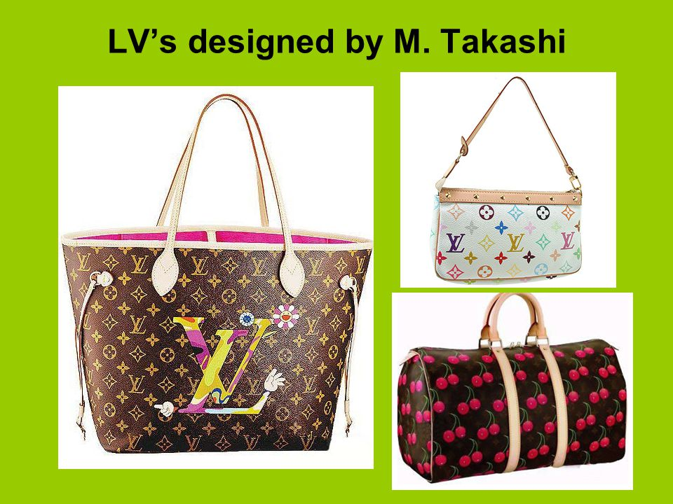 LV's designed by M. Takashi