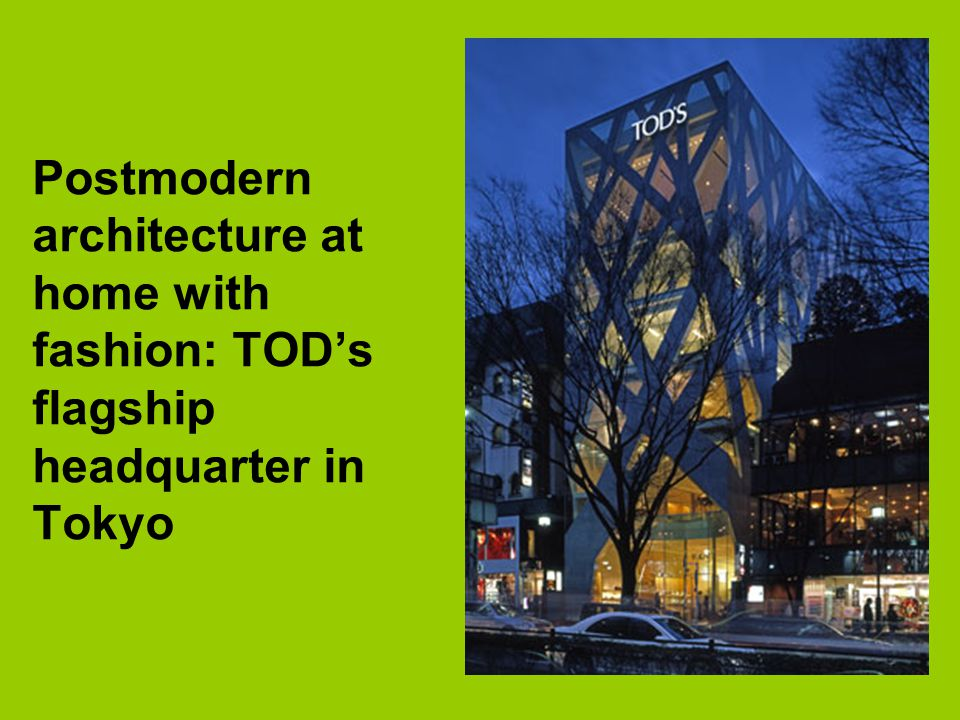 Postmodern architecture at home with fashion: TOD's flagship headquarter in Tokyo