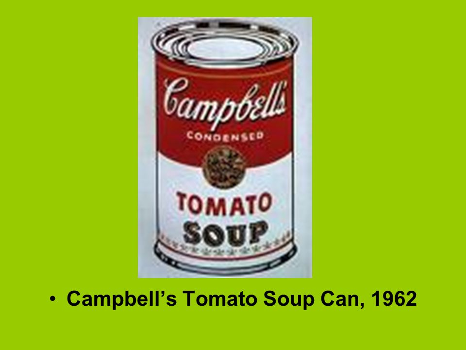 Campbell's Tomato Soup Can, 1962