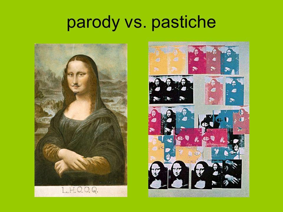 parody vs. pastiche