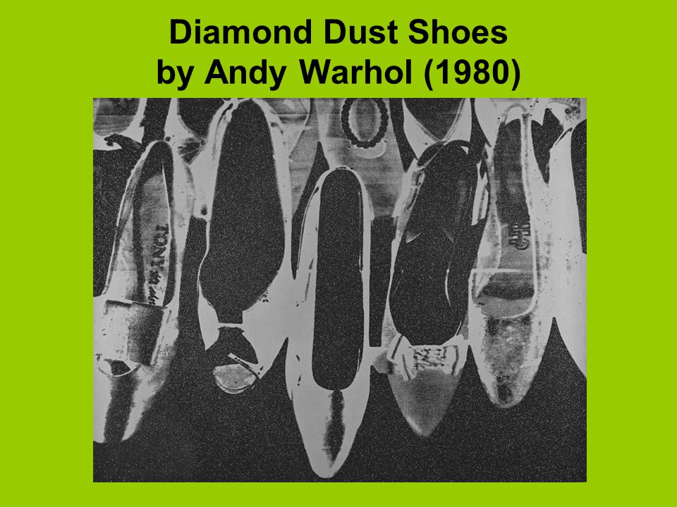 Diamond Dust Shoes by Andy Warhol (1980)