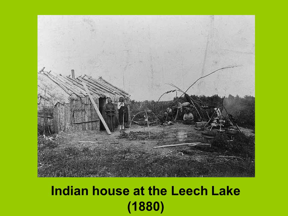 Indian house at the Leech Lake (1880)