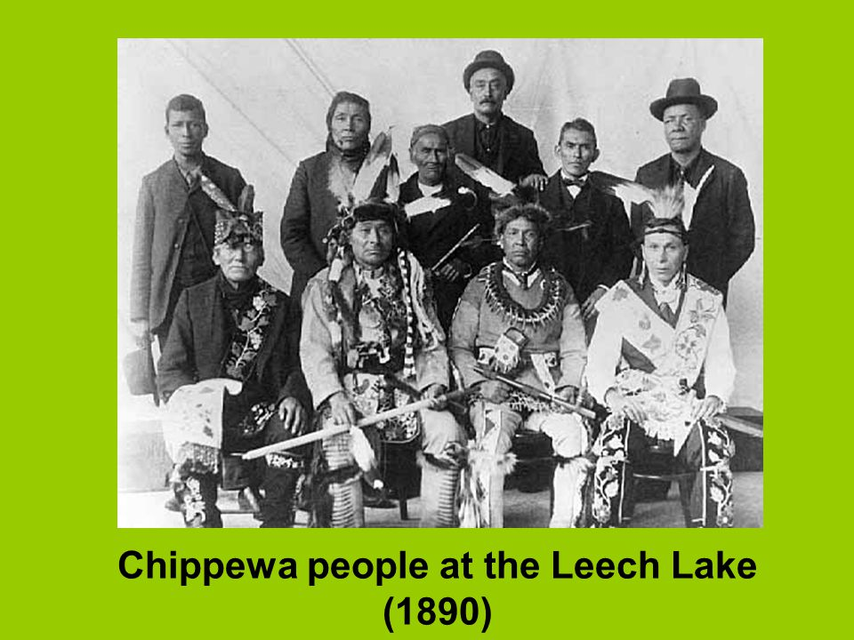 Chippewa people at the Leech Lake (1890)