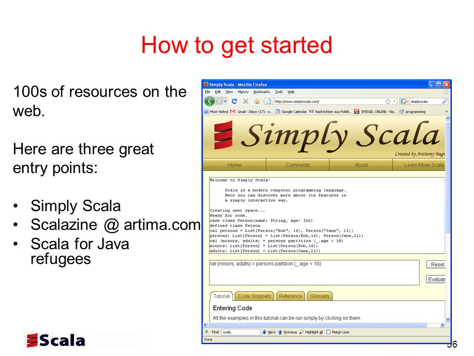 56 How to get started 100s of resources on the web.