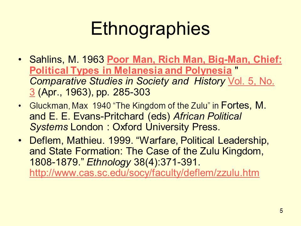5 Ethnographies Sahlins, M.