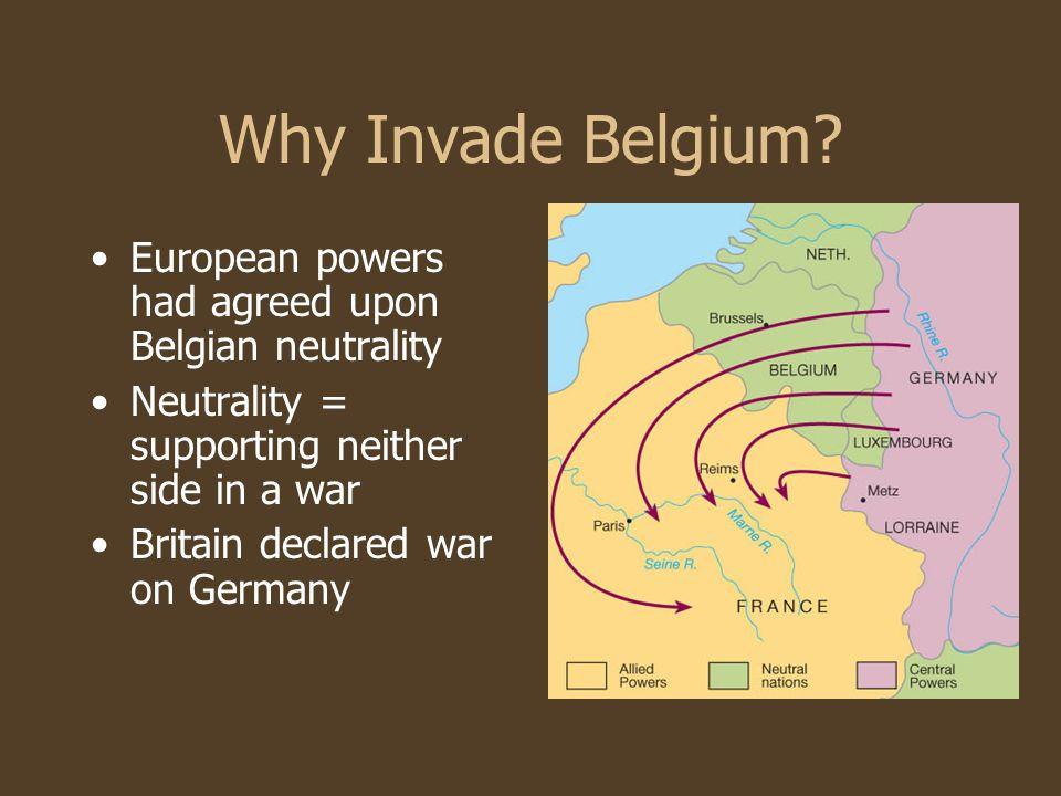 Why Invade Belgium.