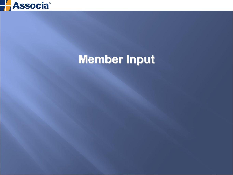 Member Input