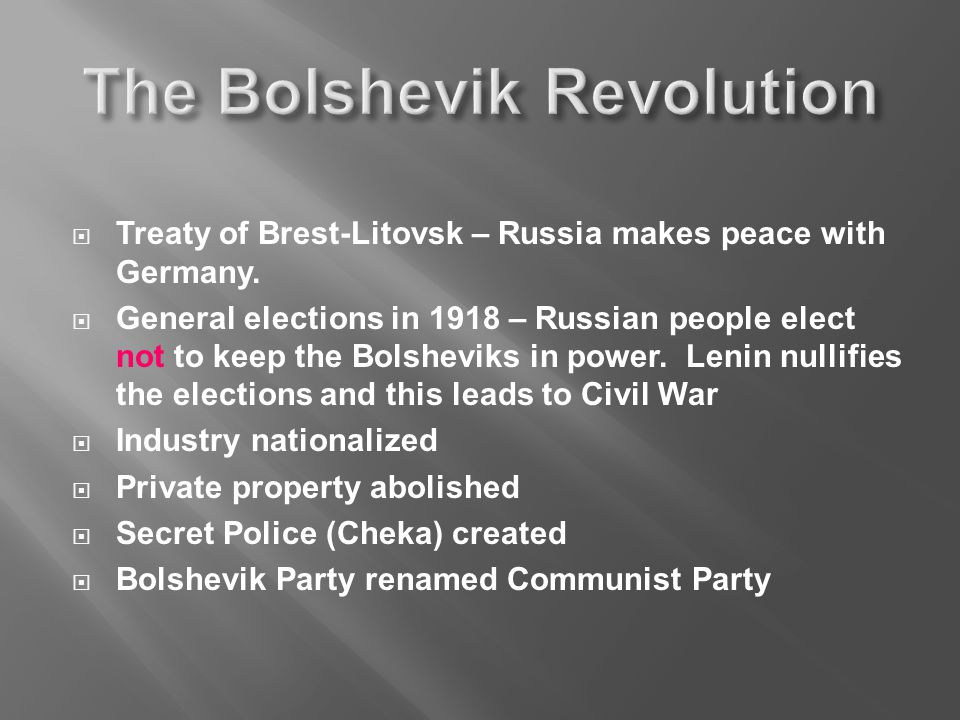  Treaty of Brest-Litovsk – Russia makes peace with Germany.