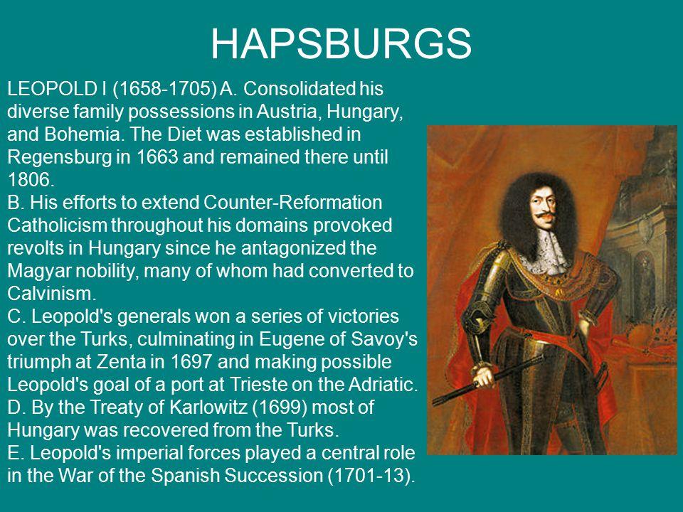 HAPSBURGS LEOPOLD I (1658-1705) A.