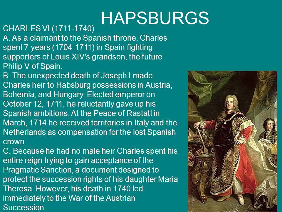 HAPSBURGS CHARLES VI (1711-1740) A.