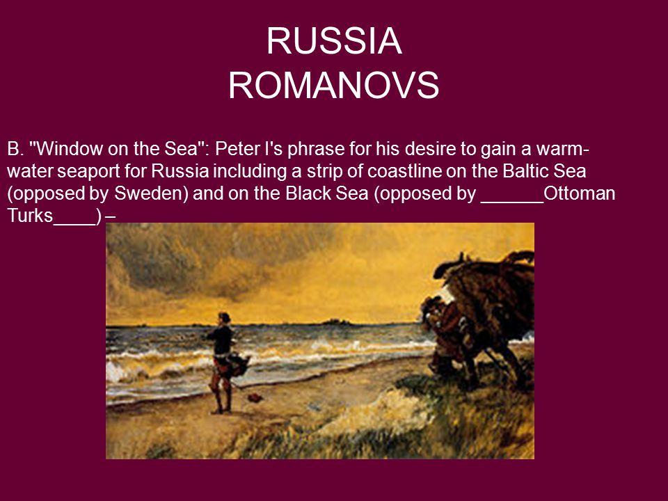 RUSSIA ROMANOVS B.