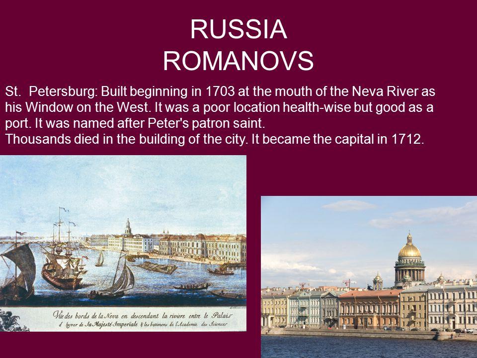 RUSSIA ROMANOVS St.