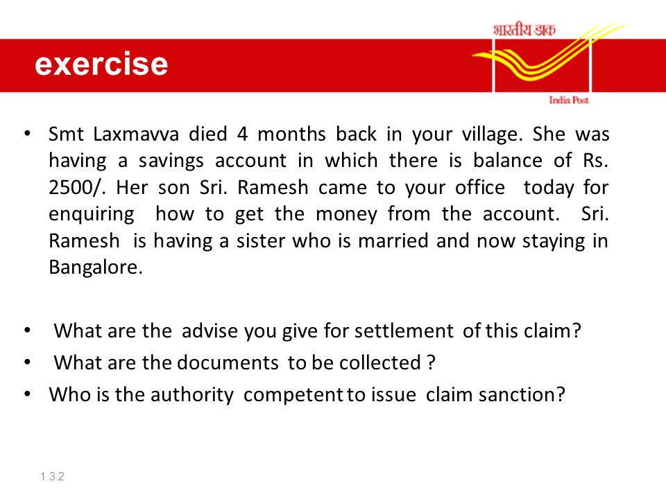 exercise Smt Laxmavva died 4 months back in your village.
