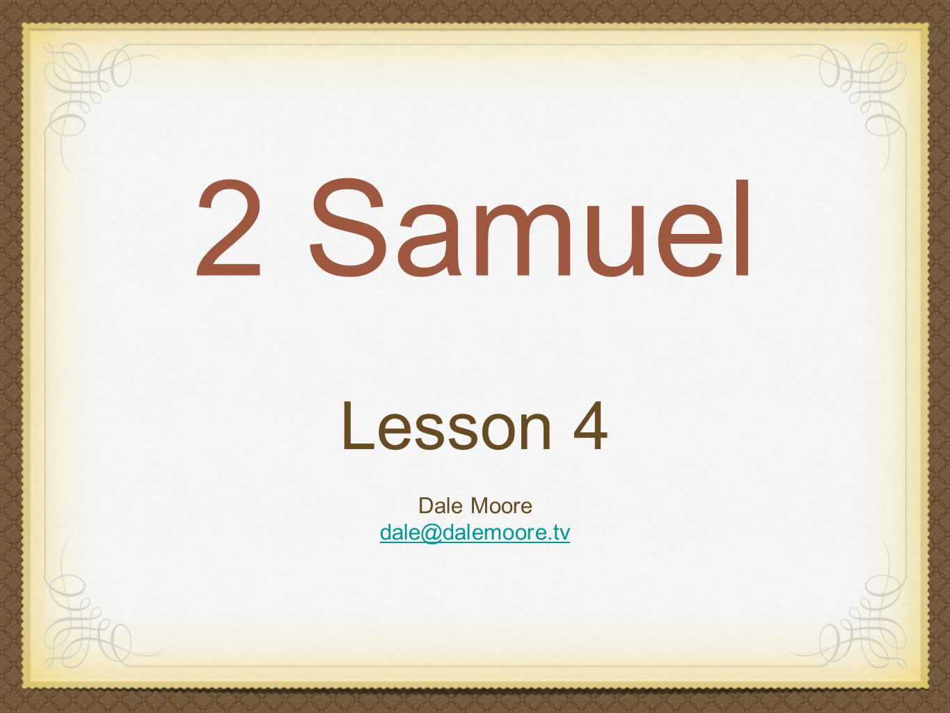 2 Samuel 15 Absalom was handsome, thick hair, articulate, shrewd From Hebron Absalom led a conspiracy against David Ahithophel (Bathsheba's grandfather) went with Absalom David fled, wept, barefooted