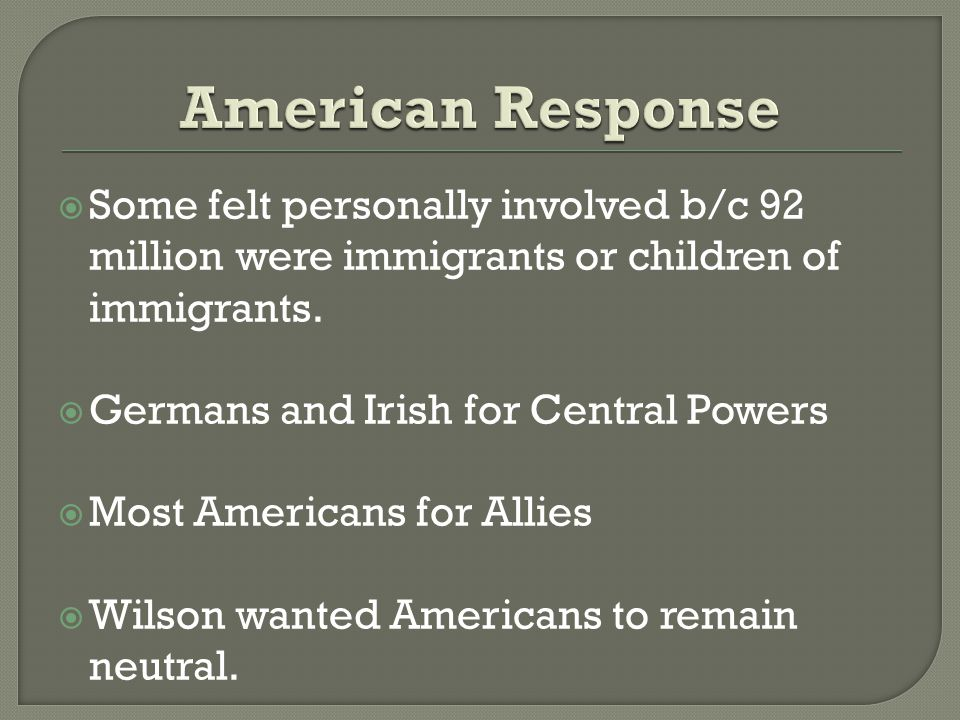  Some felt personally involved b/c 92 million were immigrants or children of immigrants.