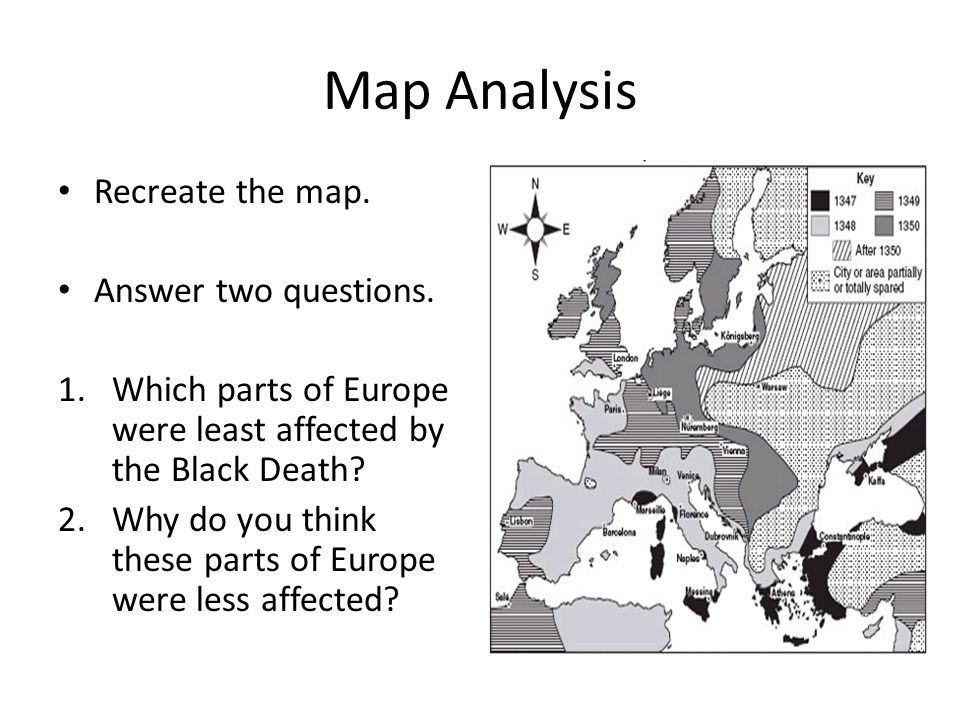 Map Analysis Recreate the map. Answer two questions.