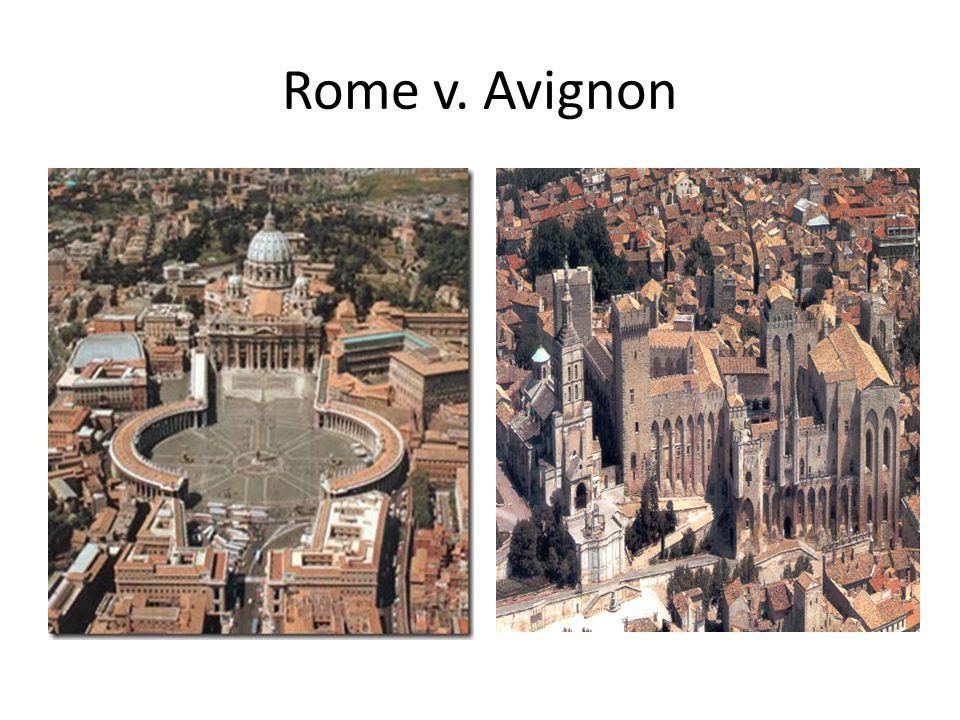 Rome v. Avignon