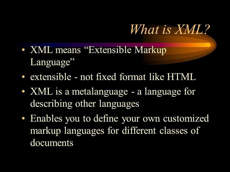 Why is XML important?(cont) Information content can be richer and easier to use because the hypertext linking abilities of XML are greater than those of HTML XML supports XLink, XPointer and XPath Enables location of remote resources, anchors and targets, and complex harmonies