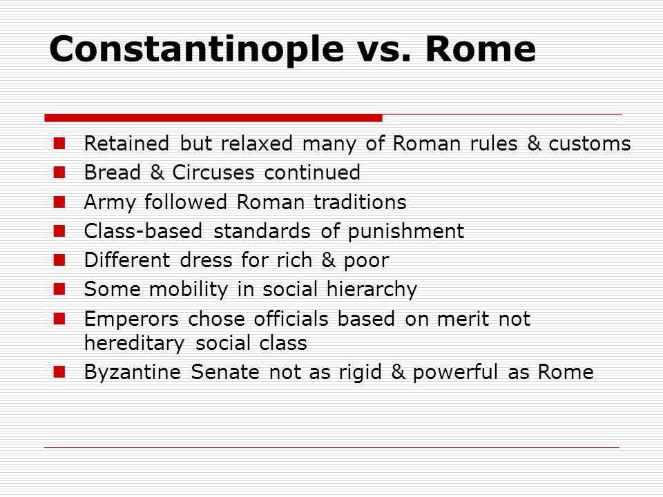 Constantinople vs.