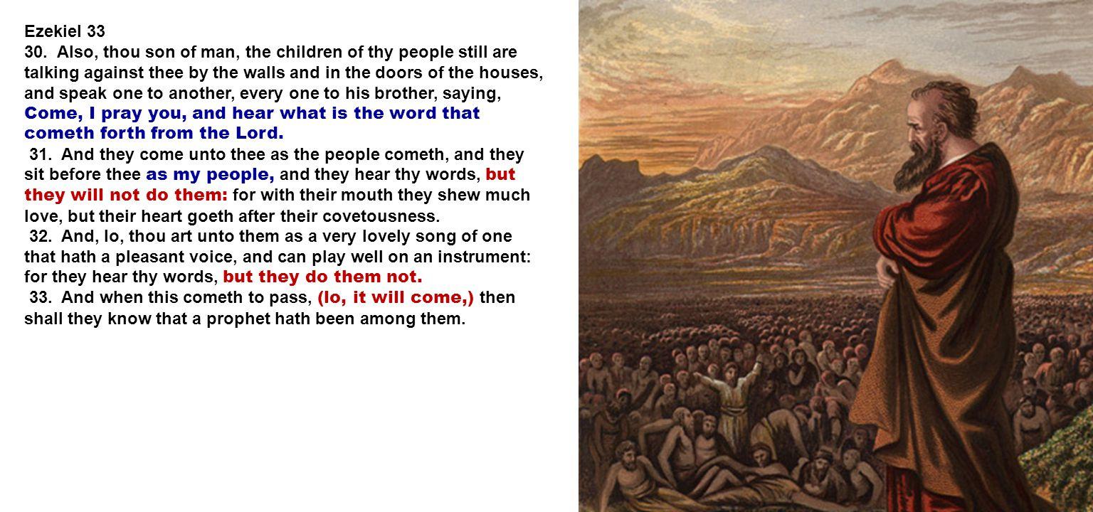Ezekiel 33 30.