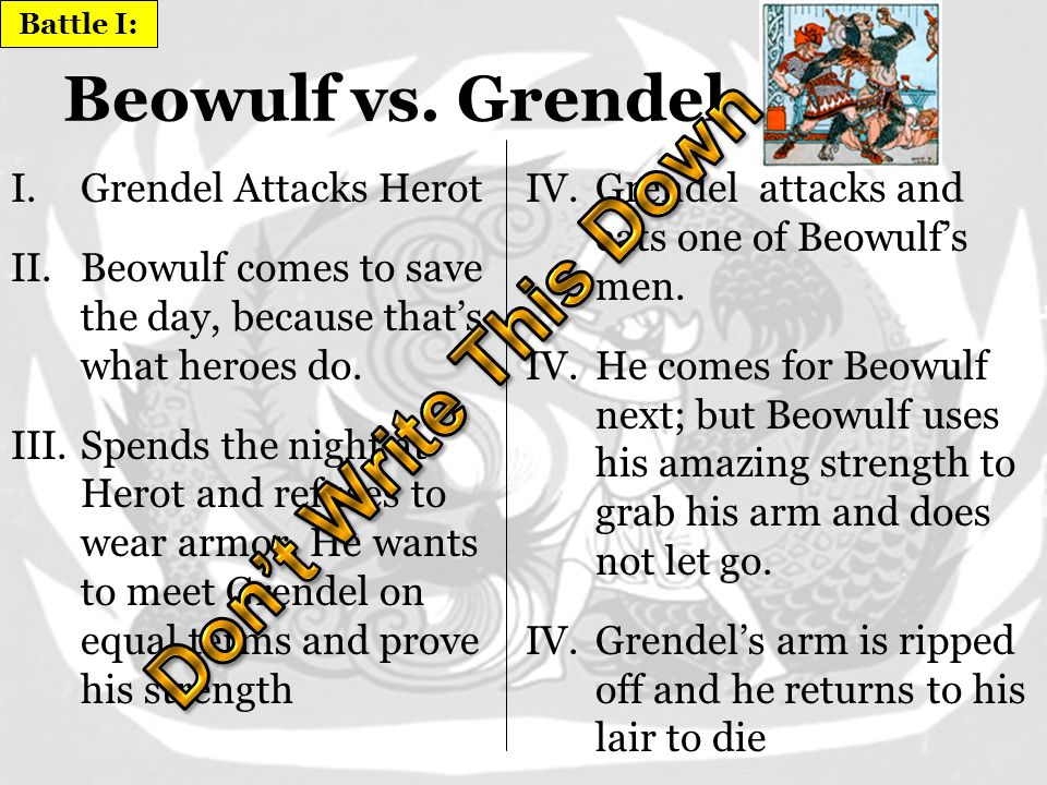 Beowulf Overview of Beowulf The Plot Three Battles –Beowulf vs.